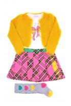 Yellow fur bolero for girls, ELSY