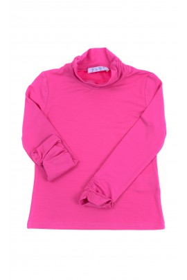 Girls pink turtleneck with long sleeves, ELSY