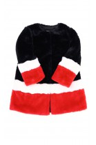 Colourful black red white fur for girls, T-LOVE