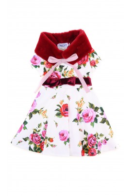 Ecru dress with red roses, Special Day