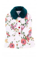 White coat with colourful roses for girls, Special Day