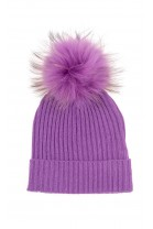 Violet beanie with tassel for girls, ELSY