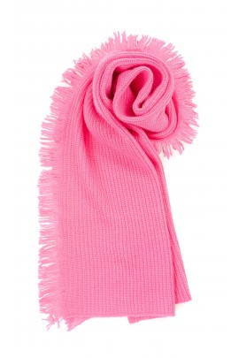 Coral pink scarf for girls, ELSY