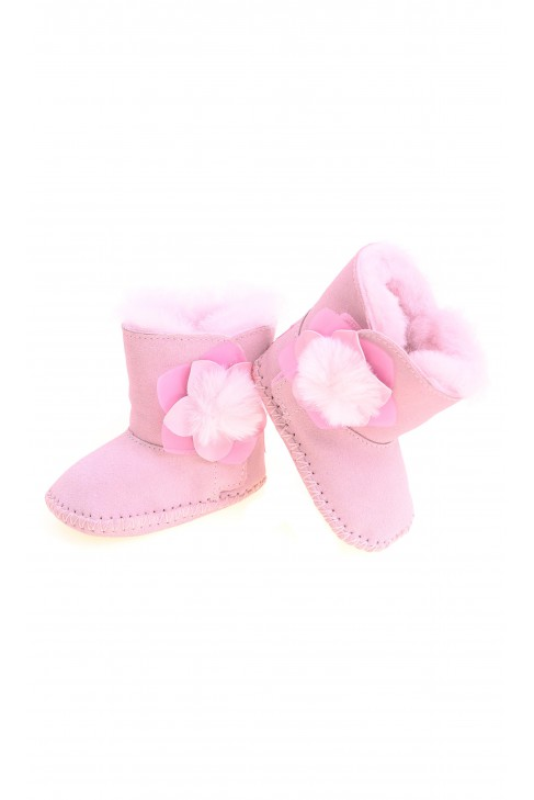 Pink booties for babies, UGG