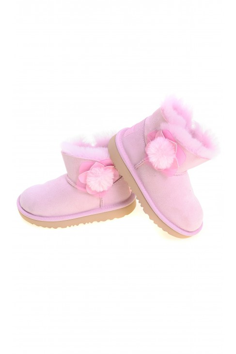 Lightpink ankle booties for girls MINI BAILEY II CACTUS FLOWER, UGG
