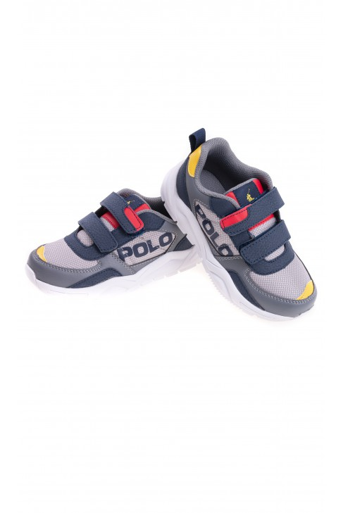 Gray sneakers for boys, Polo Ralph Lauren