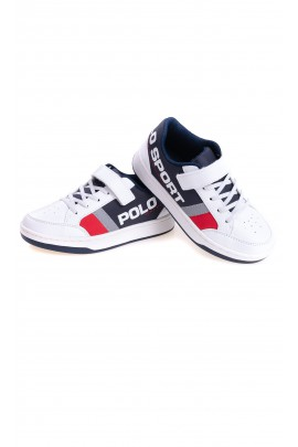 White Velcro sports shoes, Polo Ralph Lauren