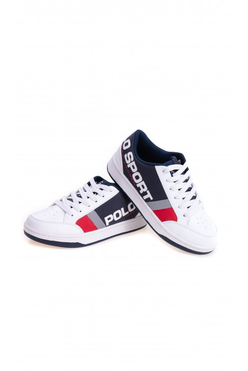White-navy blue sports shoes for boys, Polo Ralph Lauren