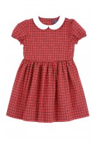 Tartan red and black dress with short sleeves, Polo Ralph Lauren