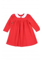 Red baby dress with long sleeves, Ralph Lauren