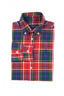 Red-green checkered shirt for boys, Polo Ralph Lauren