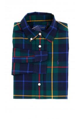 Navy blue and green checkered Polo shirt, Polo Ralph Lauren