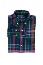 Warm navy blue and green checkered shirt for boys, Polo Ralph Lauren