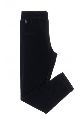 Black velour leggings for girls, Polo Ralph Lauren