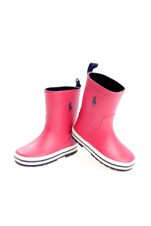 Red wellingtons for children, Polo Ralph Lauren