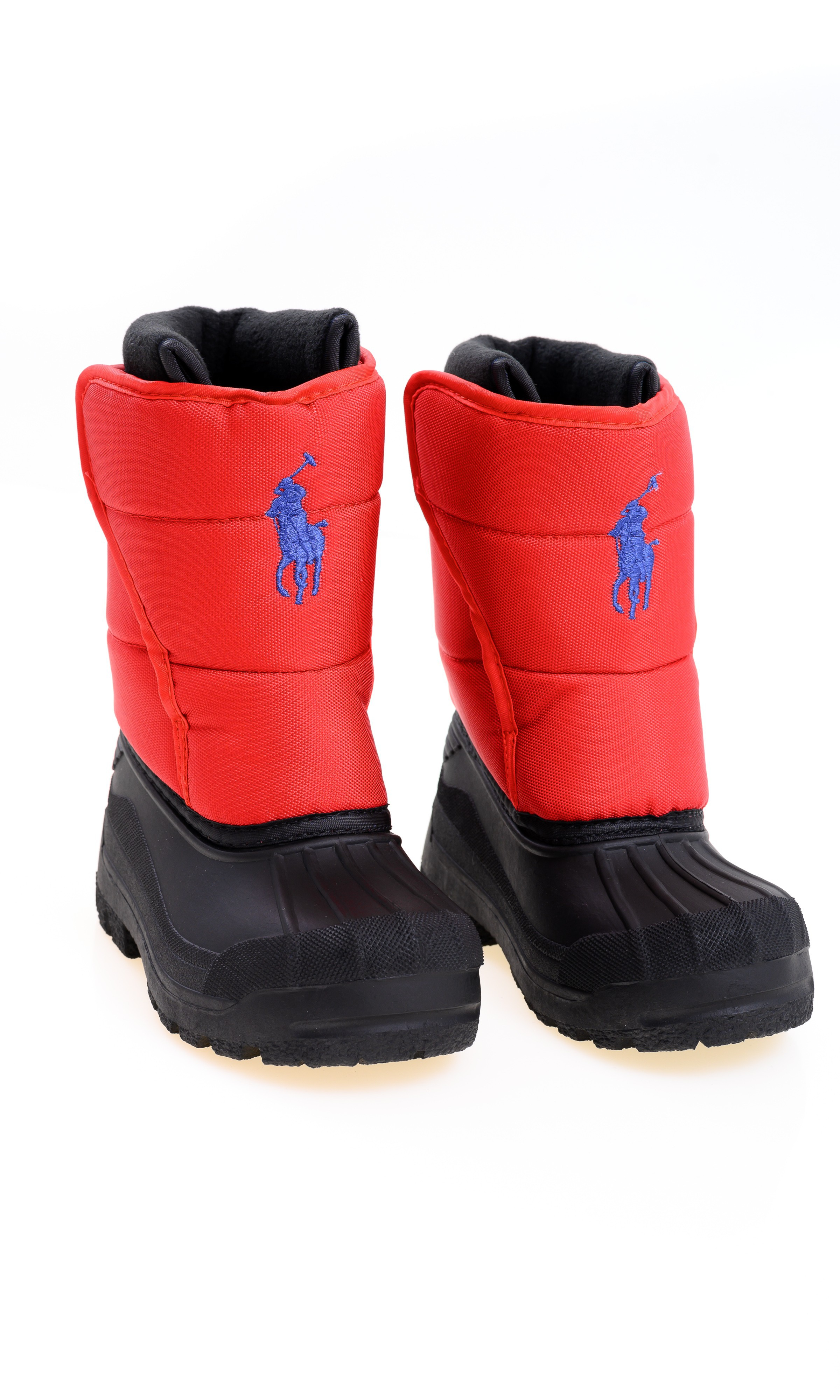 Red snow boots for children, Polo Ralph