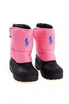 Pink snow boots for children, Polo Ralph Lauren