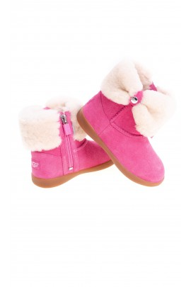 Pink zipper boots with an uppers, UGG
