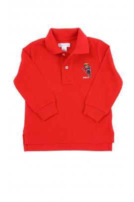 Red Polo long sleeve for boys, Ralph Lauren