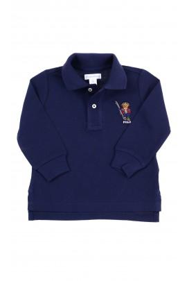 Navy blue Polo long sleeve for boys, Ralph Lauren