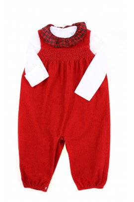 Red dungarees for babies, Ralph Lauren