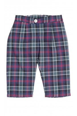 Navy blue and green checkered baby pants, Mariella Ferrari