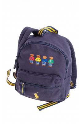 Navy blue small one compartment backpack, Polo Ralph Lauren