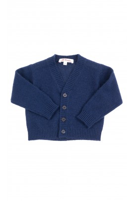 Navy blue cardigan with button front for boys, Mariella Ferrari