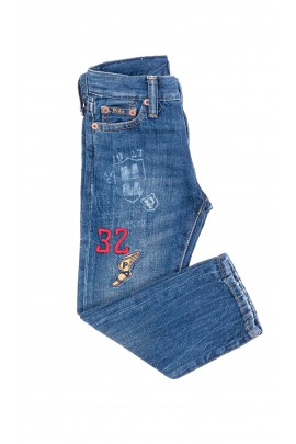 Denim pants with print on the leg, Polo Ralph Lauren