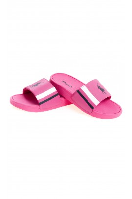 Pink one strap sandals for girls, Polo Ralph Lauren