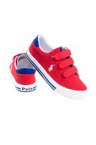 Red Velcro sneakers for boys, Polo Ralph Lauren