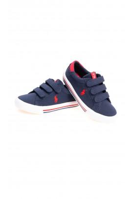 Navy blue Velcro sneakers for boys, Polo Ralph Lauren