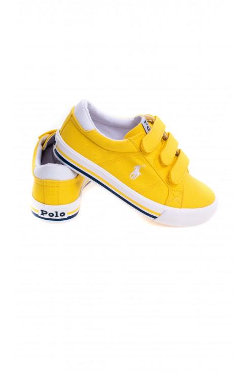 Yellow Velcro sneakers for kids, Polo Ralph Lauren