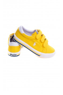 Yellow Velcro sneakers for kids, Polo Ralph Lauren