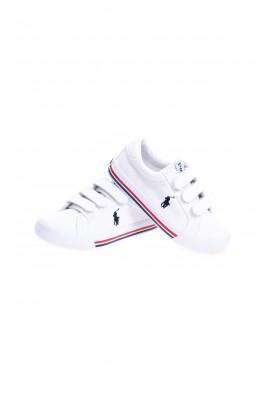 White Velcro sneakers for kids, Polo Ralph Lauren