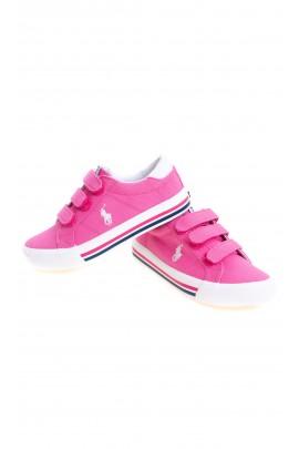 Pink Velcro sneakers for girls, Polo Ralph Lauren