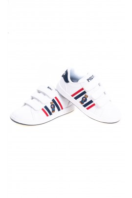 White elegant sports shoes for kids, Polo Ralph Lauren