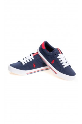 Navy blue lace-up trainers for children, Polo Ralph Lauren