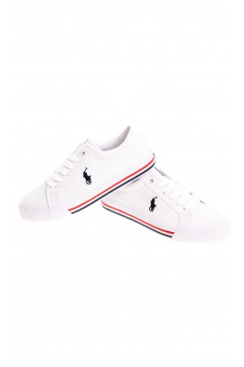 White lace-up trainers for children, Polo Ralph Lauren
