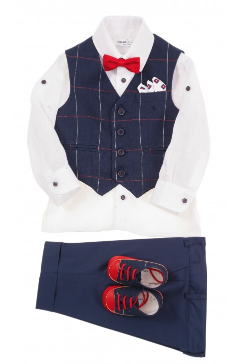 Suit set for boys - vest, shirt, pants 3/4, Colorichiari