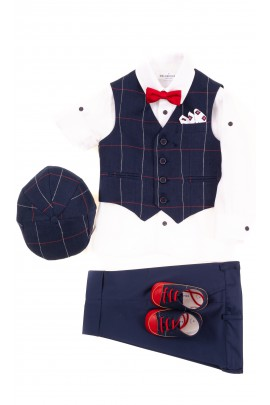 Suit set for boys - vest, shirt, pants 3/4, Colorichiari