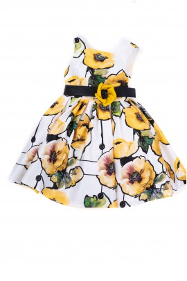 Dress with yellow flowers for girls, Colorichiar