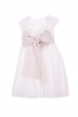 Ecru communion dress for girls, Amaya