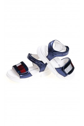 Dark blue Velcro sandals for girls, Tommy Hilfiger