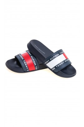 White and red slippers for boys, Tommy Hilfiger