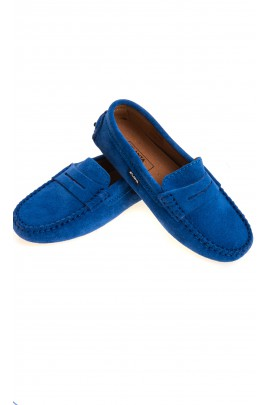 Sapphire suede loafers, Atlanta Mocassin