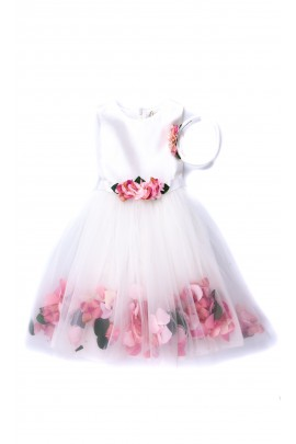 White dress for the girl for ceremonies, Lesy
