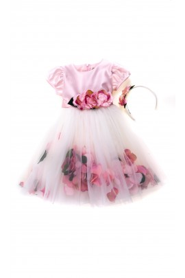 Pink dress for the girl for ceremonies, Lesy