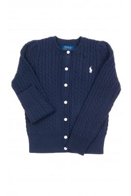 Navy blue zipped sweater for girls, Polo Ralph Lauren