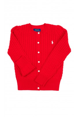 Red zipped sweater for girls, Polo Ralph Lauren